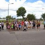 Vecinos Inundados de Beccar cortan la calle Uruguay