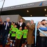 Andreotti inauguró el Polideportivo N° 6 junto a Massa y Solá