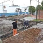 Se realizan obras hidráulicas y asfálticas en Villa Adelina