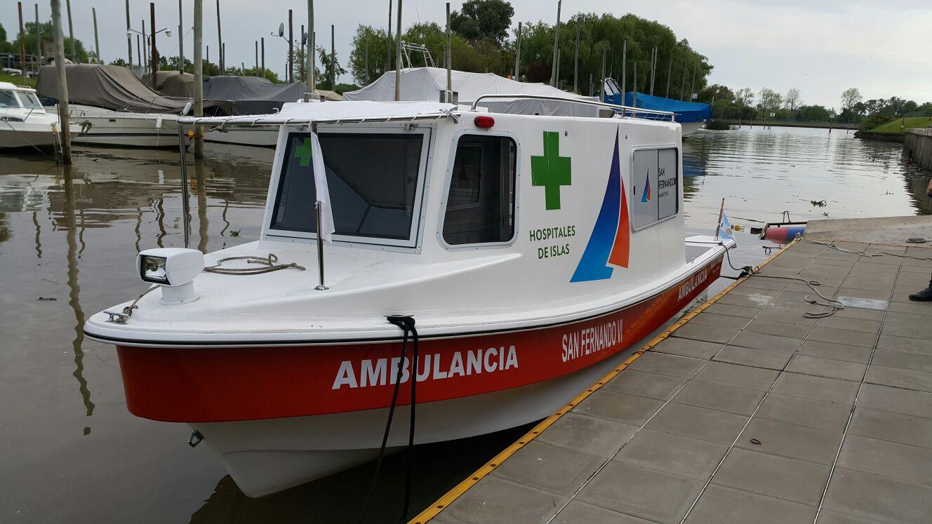 San fernando puso en funcionamiento la tercera lancha ambulancia de alta complejidad que pasa - Centro de salud la flota ...