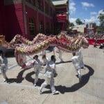 Festejo de año nuevo chino en China Town Tigre