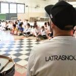 La Trasnochadaenseñó murga enla escuela 19 de San Martín
