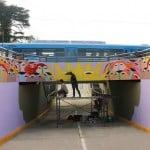 El nuevo túnel de Beccar cuenta con intervenciones artísticas