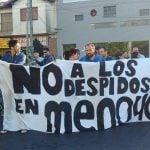Nueva protesta de los trabajadores de Menoyo ante la situación de despidos