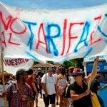 Movilización de los vecinos del Delta por el tarifazo en el boleto fluvial