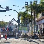 Continúan las obras sobre Av. Avellaneda en San Fernando