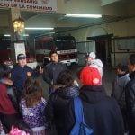 Los jóvenes de 'Casa de Día' visitaron el Cuartel de Bomberos