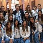 Macri se reunió con Las Leonas en Olivos