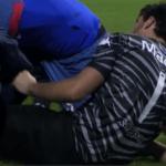 Javier García sufrió una rotura de ligamentos cruzados