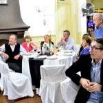 Andreotti se reunió con el Círculo Recreativo y Cultural Italiano
