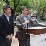 Jorge Macri y Gustavo Posse anunciaron obras asfálticas en la calle Paraná