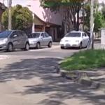 Entradera y tiroteo en Olivos