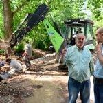 San Fernando realiza obras hidráulicas y de infraestructura en la calle Uruguay