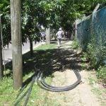 Tareas de mantenimiento de redes urbanas en Don Torcuato