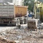 Reparan pavimento y veredas en San Martín Centro