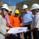 Jorge Macri y Vidal recorrieron las obras del retén hidráulico en Vicente López