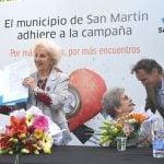 San Martín firmó un convenio con las Abuelas de Plaza de Mayo