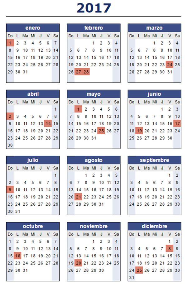 C mo quedaron los feriados para el 2017 que pasa zona for Ministerio del interior argentina