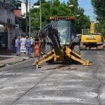 Inició la obra de repavimentación de la calle Paraná