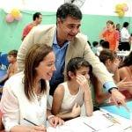 Vidal y Jorge Macri visitaron el Centro Barrial de la Infancia