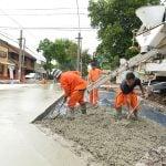 Avanzan las obras de repavimentación en Villa Ballester