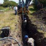 Avanzan las obras de ampliación de la red de agua corriente en Ricardo Rojas