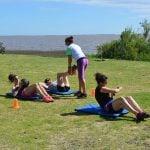 San Isidro ofrece clases de acondicionamiento físico junto al río
