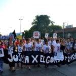 Multitudinaria marcha por la masacre de La Carcova en San Martín