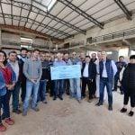 Andreotti entregó otro subsidio para la construcción del nuevo cuartel de bomberos