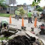 Continúan las obras hidráulicas en Virreyes Oeste