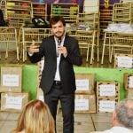 Galmarini y concejales del Frente Renovador entregaron mobiliario en una escuela de Beccar