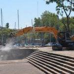 Comenzaron los trabajos en el puerto para crear un parque público