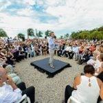 Macri y Vidal visitaron un centro de jubilados en San Isidro