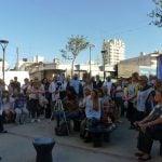 Sindicatos docentes se manifestaron en el mástil de San Isidro