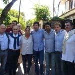 Salvador, Posse y Campbell realizaron un timbreo sobre la calle Uruguay