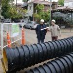 Jorge Macri recorrió la obra hidráulica del conducto Gaspar Campos