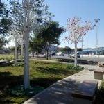 Con una obra de arte, se inauguró un espacio público en Vicente López