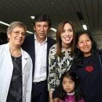 Vidal y Posse estuvieron en el Hospital Materno Infantil de San Isidro