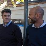 Dietrich y Jorge Macri recorrieron la obra en la estación Juan B. Justo