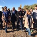 Vidal y Andreotti recorrieron las obras de entubamiento del arroyo Tres Horquetas